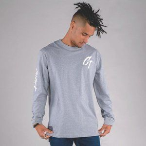 Cuzy T Men's Grey Long Sleeve Iconic T-Shirt